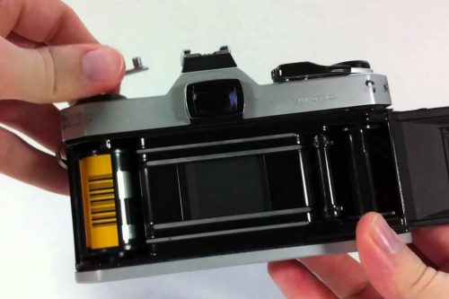 How to load film in camera